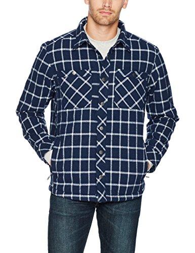 Casual Jacket Sierra - White Sierra Men's Wooly Bully Plaid Insulated Shirt, Navy II, Medium
