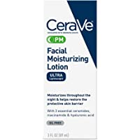 CeraVe PM Facial Moisturizing Lotion | Night Cream with Hyaluronic Acid and Niacinamide | Ultra-Lightweight, Oil-Free…