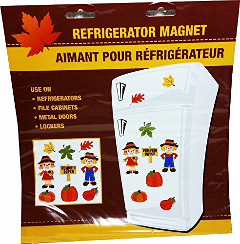 [Thanksgiving Fall Harvest Refrigerator Magnets ~ Fun Autumn Theme Decorations (Scarecrow ~ Pumpkins ~] (Captain America First Avenger Halloween Costume)