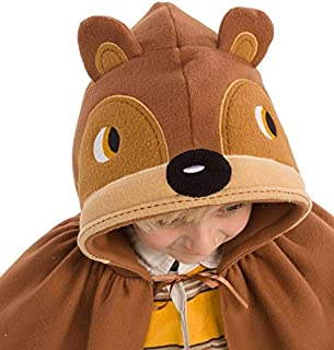 product image for Forest Friend Animal Dress Up Costume Cloak Cape for Kids, Polyester Felt, 38'' L – Bear