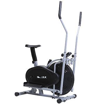 Ise bicicleta estática y bicicleta elíptica 2 en 1 entrenamiento Cardio con asiento