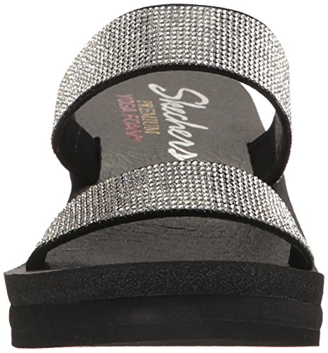 Bloom Black Silver Lil Cali Dress Women's Bohemian Arrow Skechers Platform wvXRqTx
