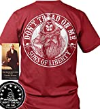 Sons of Libery Don't Tread on Me Reaper AR-15. Red/LRG T-Shirt. Made in USA