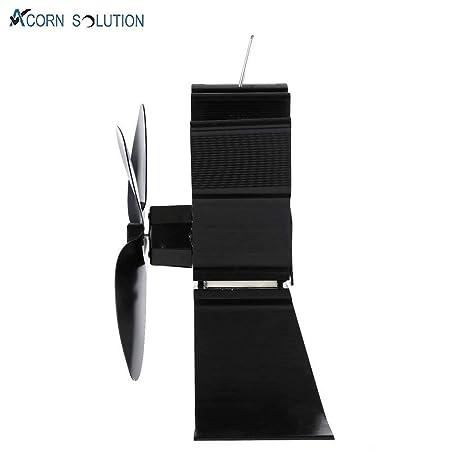 Acorn ventilador alimentado por calor para estufa de leña y chimenea, respetuoso con el medio ambiente y eficiente, color negro: Amazon.es: Bricolaje y ...