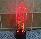(US) SmartEra® 3D Optical Illusion 2016 New Mutants Deadpool Panel Model Lighting Night 7 Color Change USB Touch button LED Desk Table Light Lamp