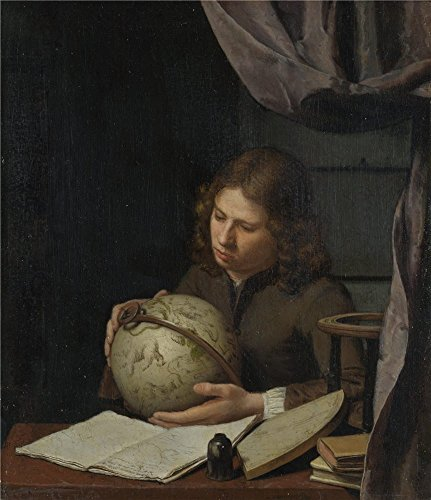 Oil Painting 'Olivier Van Deuren A Young Astronomer ' Printi