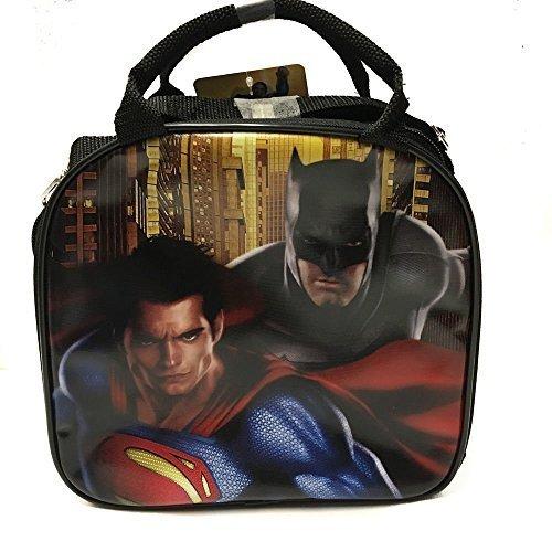 DC Comics Batman VS Superman Insulated Lunch Bag w/ Water Bottle (Black) -