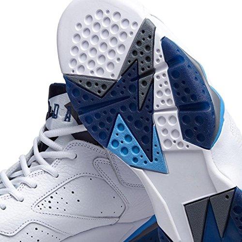 Jordan Lucht 7 Retro French Blauw Mens Schoenen Wit / Frech Blue-universiteit Blue-vuursteen Grijs 304775-107