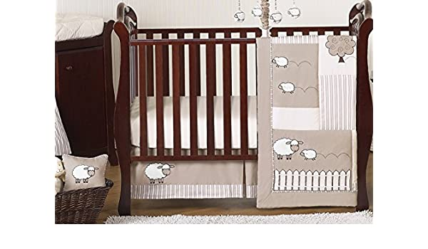 Little Lamb Sheep Animal Farm Baby Boy Girl Unisex Bedding 11pc Crib Set Without Bumper Sweet Jojo Designs B019J2CMXC