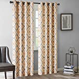 Ink+Ivy Grommet Curtains For Living room, Ankara Print Modern Window Curtains For bedroom Family Room, Modern Contemporary Spice Living room Curtains, 50×84, 1-Panel Pack For Sale