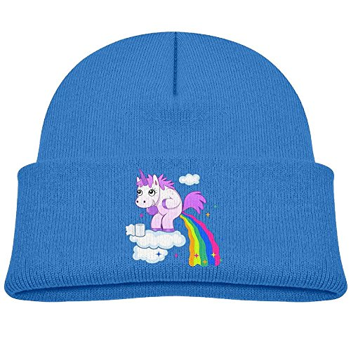 OETUU Cute Unicorn Poop Rainbow Beanie Cap Knit Cap Woolen Hat For Boys And Girls