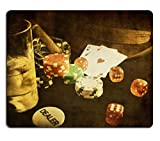 Luxlady Mousepad vintage poker conceptual image with card and gamble chip IMAGE 19373967