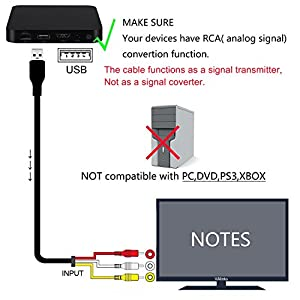 eBerry HDMI to RCA Cable, HDMI Male to 3RCA AV Composite Male M/M Connector Adapter Cable Cord Transmitter (NO SIGNAL CONVERSION FUNCTION), One-way Transmission from HDMI to RCA - 5ft/1.5m Black