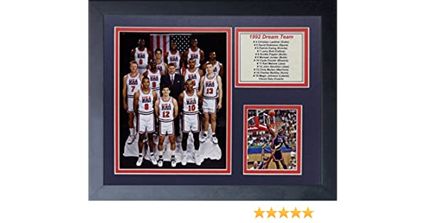c2aa1f0d1 1992 USA BASKETBALL DREAM TEAM MICHAEL JORDAN LARRY BIRD MAGIC 8X10 PHOTO  FRAMED at Amazon s Sports Collectibles Store