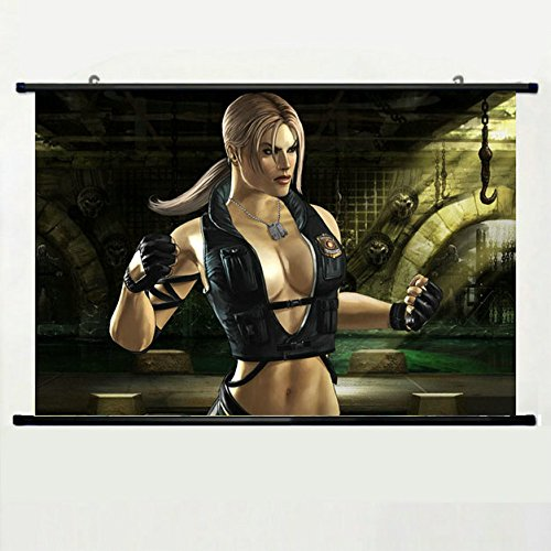 Wall Scroll Poster with Sonya Blade Mortal Kombat Mk Home Decor Wall Posters Fabric Painting 23.6 X 15.7 Inch]()
