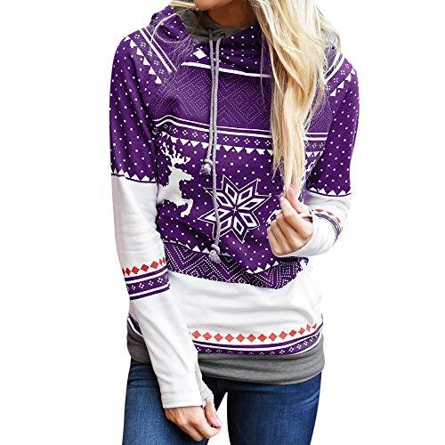 DEATU Sale New Christmas Casual Shirt Women Dots
