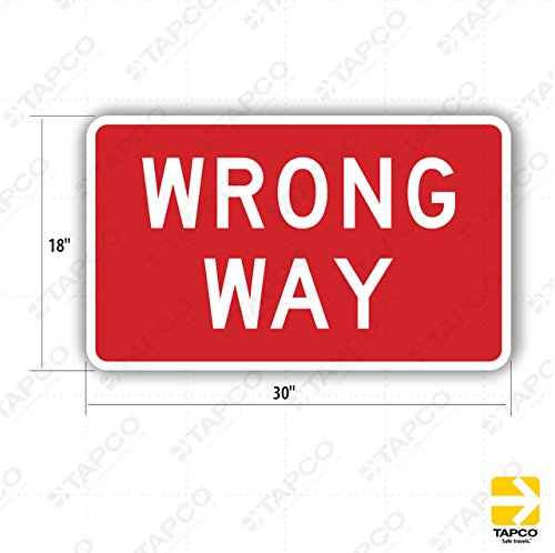 (Tapco R5-1A Engineer Grade Prismatic Rectangular Standard Traffic Sign, Legend