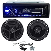 Package: JVC KD-R860BT Car Stereo Receiver With AM/FM, CD/USB/Bluetooth, iPhone/Android + Pair of JVC CS-J620 Wireless 6.5 2-Way Coaxial Car Speakers Totaling 600 Watt Peak/60 Watt RMS