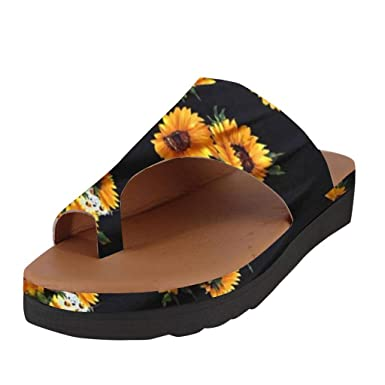 9adfe4c90 Amazon.com: Creazrise Women's Fashion Wedge Sandals Ladies Peep-Toe Platform  Slippers Flip Flop Black: Clothing