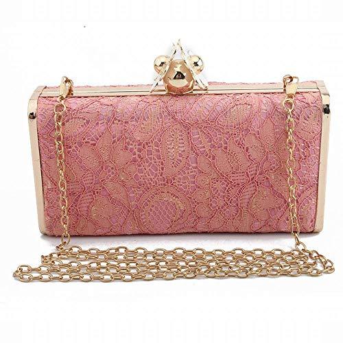 color Bandoulière Main Sac Pink Cijfay Pink En De Dentelle Soirée À Femme Pour pwECv0q