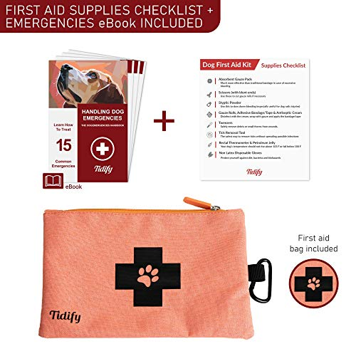 Dog Travel Bag Week Away/Overnight Accessories Organizer – Pet First Aid Pouch – Airline Approved – 2 Food Storage…
