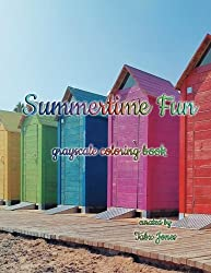 Summertime Fun Grayscale Coloring Book