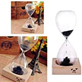 AOMAG® Hand-blown Timer Magnet Hourglass / Magnetic Hourglass Sand Timer Clock Glass Classic Home Desk Decor