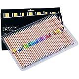 Solabela® 36 Bi-Color Colored Pencils 72 Vibrant Colors. Cedar Wood Barrels