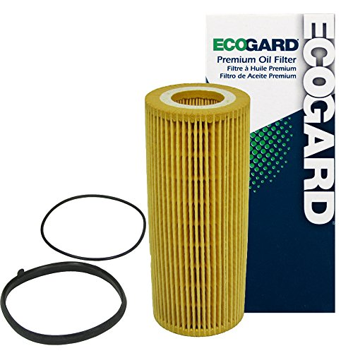 ECOGARD X5598 Cartridge Engine Oil Filter for Conventional Oil - Premium Replacement Fits Audi A6 Quattro, Q5, Q7, S4, A7 Quattro, S5, A4 Quattro, SQ5, A5 Quattro, A6, A8 Quattro, A4 (Audi Filter Oil 2008 A6)