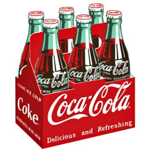 Coca Cola Carton Die-Cut Embossed Tin Sign