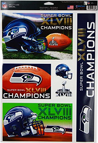(Seattle Seahawks Decal 11x17 Ultra - Super Bowl 48 Champ)