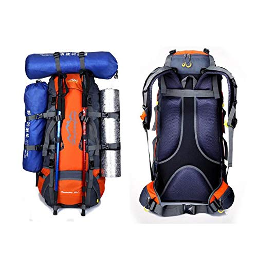 Glumes 80L ハイキングバックパック 防水 軽量 レディース メンズ 内部フレーム バックパッキングバックパック ハイカー トレッキングフレームパック アウトドア旅行登山 キャンプ  オレンジ B07Q2L2ZHG