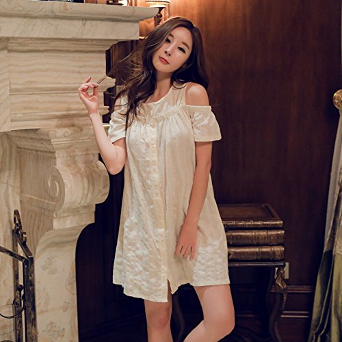 000d025a31 MH-RITA Summer Female Short Nightdress Sweet Temperament Lady Clothing  Pajamas Cotton Cardigan Strapless Home