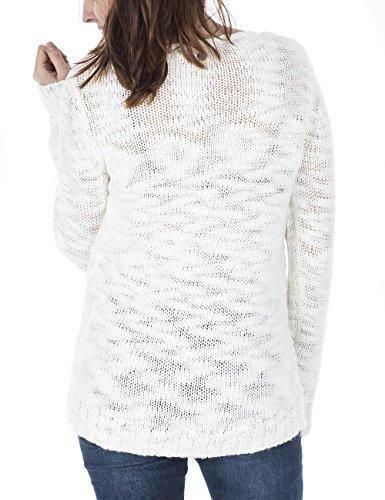 10 Femme Mod8 Au15 Blanc Blanc Pull pl070 zAAB6q