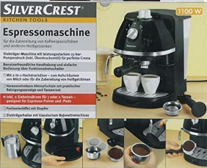 Silvercrest Espresso Amazoncouk Kitchen Home