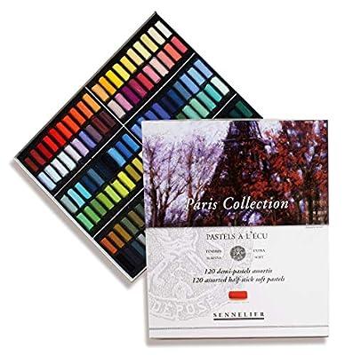 Sennelier Pastels Art Gift Set & 3 Drawer Wood Pastel Storage Box - Sennelier Soft Full Stick Pastel Iridescent Colors - Set of 24
