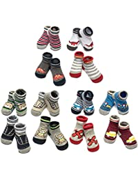 12 Pack Bootie Gift Set for Infant Boys & Girls, 0-12 Months