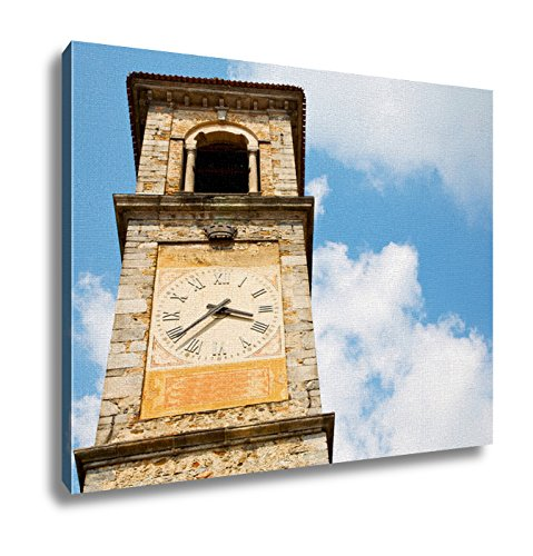 Ashley Canvas, Ancien Clock Tower In Europe And Bell, 24x30 by Ashley Canvas