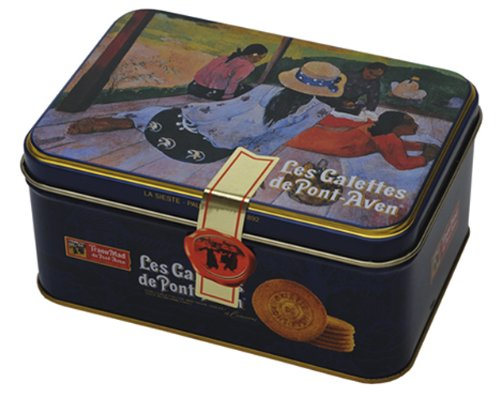 Traou Mad Galettes (Butter Cookies), VIP Blue, 4.5-Ounce Tin - French Biscuits