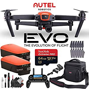 Autel Robotics EVO Quadcopter + Two Extra Batteries + 64GB Micro SD Memory Card Combo