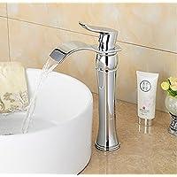 Rozin Fashion finitura cromata bagno alto rubinetto lavabo cascata rubinetto miscelatore monocomando monoforo
