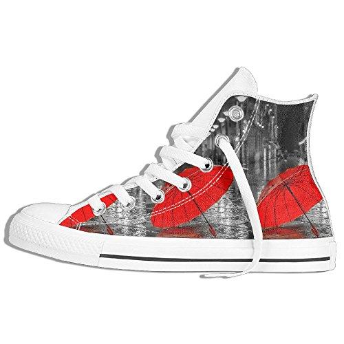 24855f4b12281 Baskets Montantes Classiques Chaussures De Toile Anti-dérapant Rouge  Parapluie Occasionnel Marche Pour Hommes Femmes