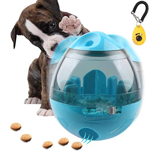 FAOUGESS Dog Food Dispenser Ball Toy, Pet Increase IQ Slow Feeder Interactive Treat Dispensing Ball,Tumbler Design Training Puzzle Shaking Toys for Dogs & Cats