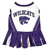 Pets First NCAA KANSAS STATE WILDCATS DOG Cheerleader Outfit - Medium