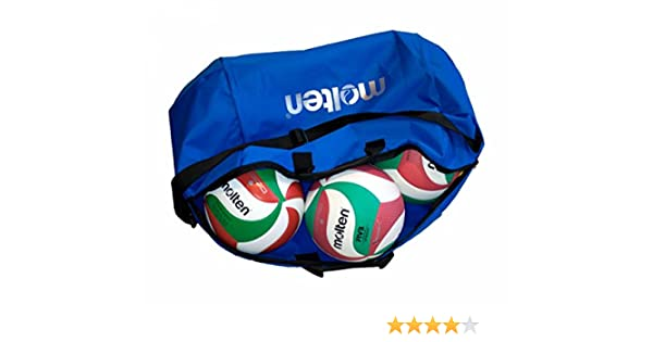 MOLTEN Profesional Bolsa de 6 Balones de Voleibol, Unisex, Azul ...