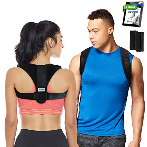 - Maldora Posture Corrector for Men & Women, Back Brace for Clavicle Support, Adjustable Back Straightener - Device Improve Bad Posture, Fix Slouching, Upper Back Pain Relief (28