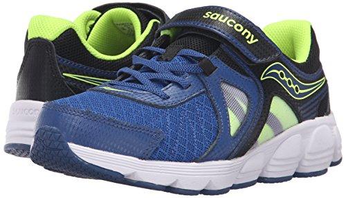 Saucony Kotaro 3 Alternative Closure Sneaker (Little Kid/Big Kid), Blue/Black/Citron, 12 W US Little Kid Photo #6