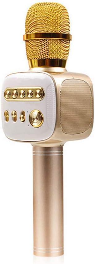 PGODYQ Micrófono estéreo inalámbrico con Bluetooth inalámbrico para el hogar, Reproductor de Bluetooth inalámbrico, para el hogar, KTV, Fiestas al Aire Libre, Cantar, Grabar