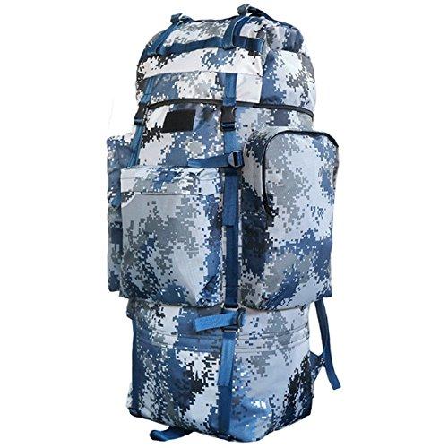 GJ バックパック - アウトドアバックパックの男性と女性の大容量旅行バッグは、バッグのバックパックのカモの荷物を歩く (色 : Air Force Camo) B07FC1TMPY Air Force Camo