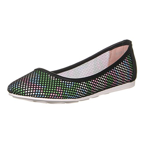 Ital-Design Damen Schuhe, 8157-BL, Ballerinas Schwarz